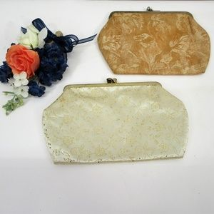 Avon Clutch Purses Vintage Pair Brocade & Sequins